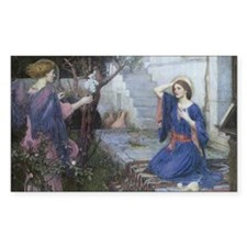 Annunciation by JW Waterhouse Decal