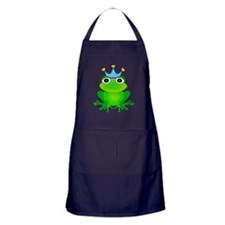 Blue Crown Frog Prince Apron (dark)