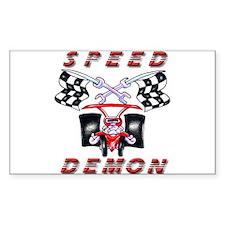 Drag Racing Speed Demon Rectangle Decal