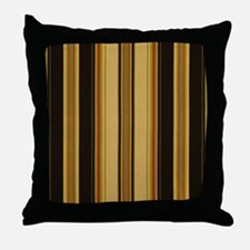 Bold Black and Tan Striped Throw Pillow