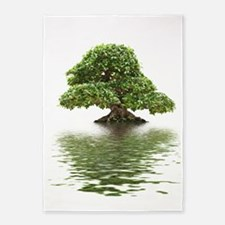 ficus water reflection 5'x7'Area Rug