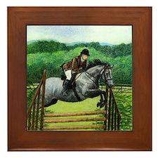 Connemara Hunter Pony Framed Tile