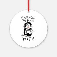 Borrow Books Ornament (Round)
