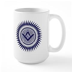 Masonic Starburst Crystal Large Mug