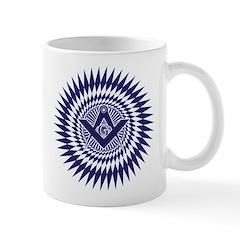 Masonic Starburst Crystal Mug