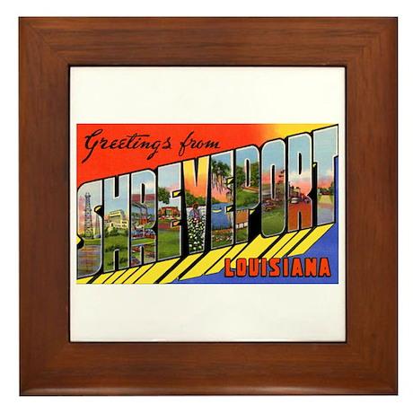 Shreveport Louisiana Greetings Framed Tile