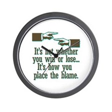 Funny Win or Lose Wall Clock