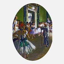 Degas - The Ballet Class Ornament (Oval)