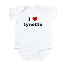 I Love lynette Infant Bodysuit