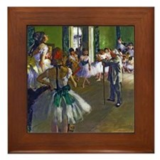 Degas - The Ballet Class Framed Tile