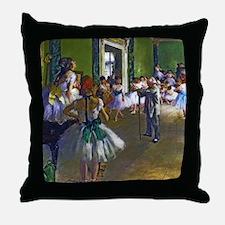 Degas - The Ballet Class Throw Pillow