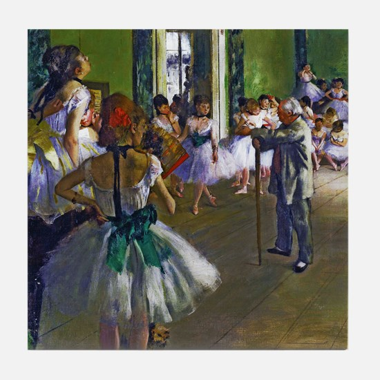 Degas - The Ballet Class Tile Coaster