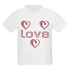 Three Heart Love T-Shirt