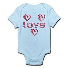 Three Heart Love Infant Bodysuit