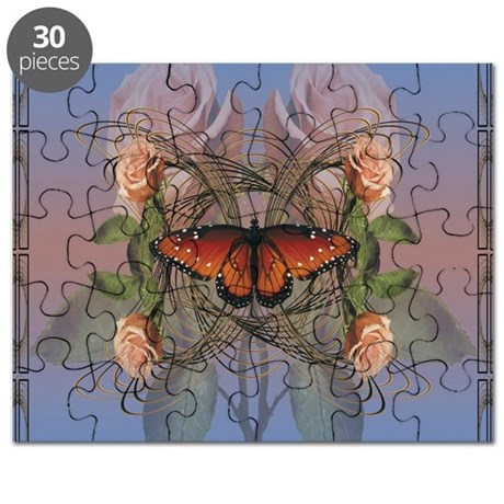 Butterfly and Roses Puzzle