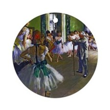 Degas - The Ballet Class Ornament (Round)