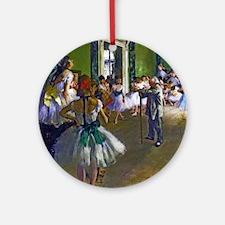 Degas - The Ballet Class Ornament (Round)