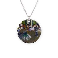 Degas - The Ballet Class Necklace Circle Charm