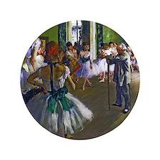 """Degas - The Ballet Class 3.5"""" Button"""