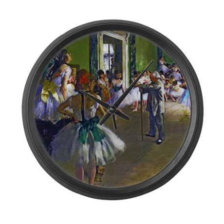 Degas - The Ballet Class Large Wall Clock