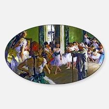 Degas - The Ballet Class Sticker (Oval)