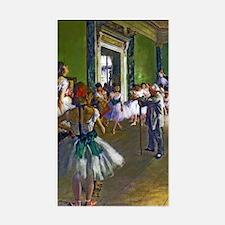 Degas - The Ballet Class Sticker (Rectangle)