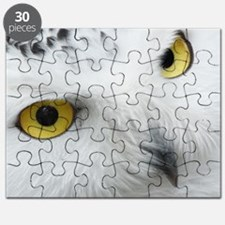 white snowy owl face closeup Puzzle
