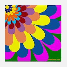 Flower Burst Tile Coaster