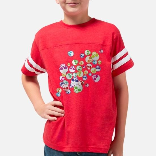 Jumble Of Sugar Skulls Youth Football Shirt