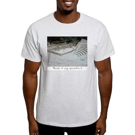 Ancient Theatre Ash Grey T-Shirt