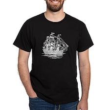 Dark Pirate Ship T-Shirt