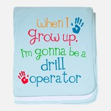 Future Drill Operator baby blanket