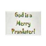 God is a Merry Prankster Rectangle Magnet (100 pac