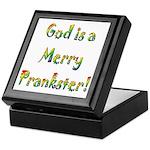 God is a Merry Prankster Keepsake Box