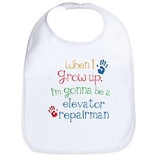 Future Elevator Repairman Bib