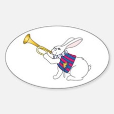 White Rabbit and Trumpet Decal