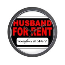 HUSBAND FOR RENT Wall Clock