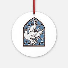 Jewish Hanukkah Dove Ornament (Round)