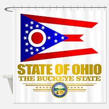 Ohio Flag Shower Curtain