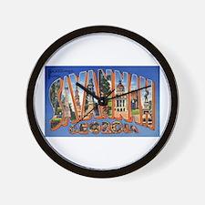 Savannah Georgia Greetings Wall Clock