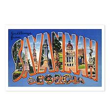 Savannah Georgia Greetings Postcards (Package of 8
