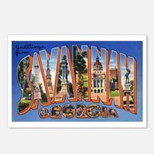 Savannah Georgia Greetings Postcards (Package of 8