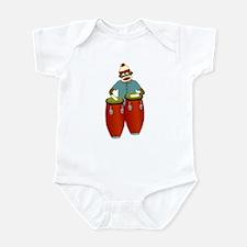 Sock Monkey Conga Drums Infant Bodysuit