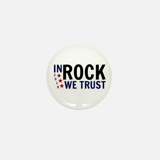 In Rock We Trust Mini Button