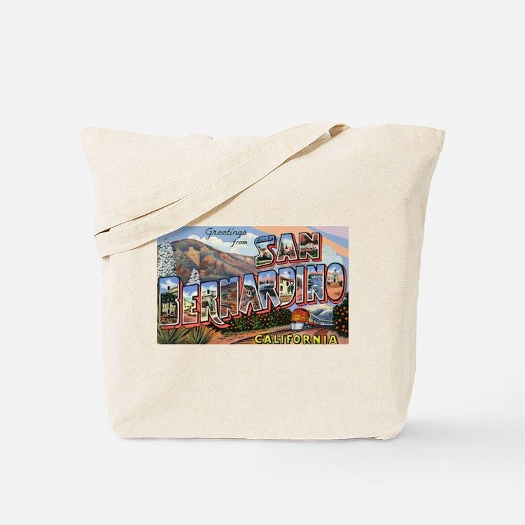 San Bernardino California Greetings Tote Bag