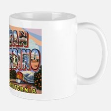 San Bernardino California Greetings Mug