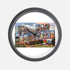 San Bernardino California Greetings Wall Clock