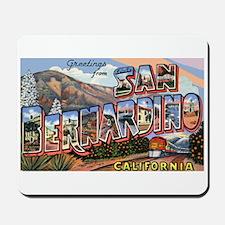 San Bernardino California Greetings Mousepad