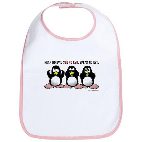 No Evil Penguins Bib