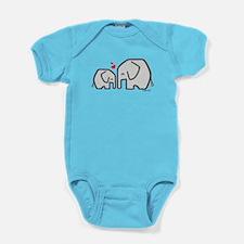 Elephants (4) Baby Bodysuit